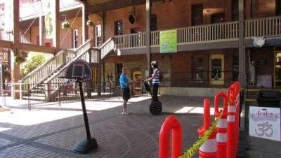 Public fundraising event with the Segways at Market Square