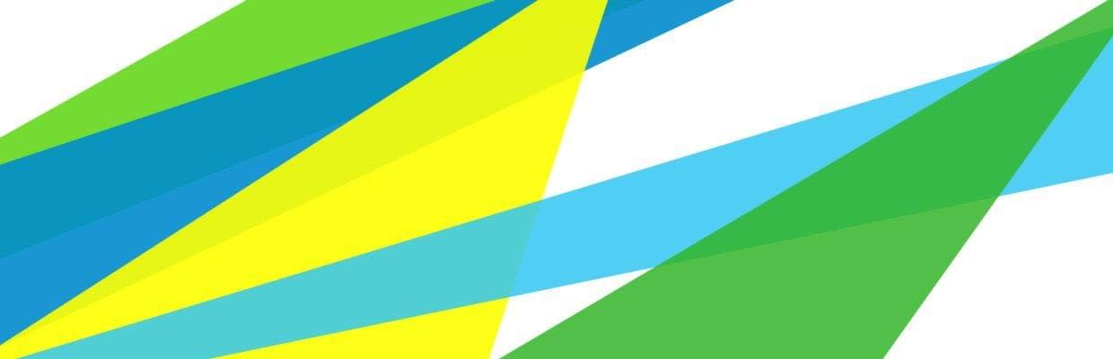 abstract background with green blue and yellow triangles