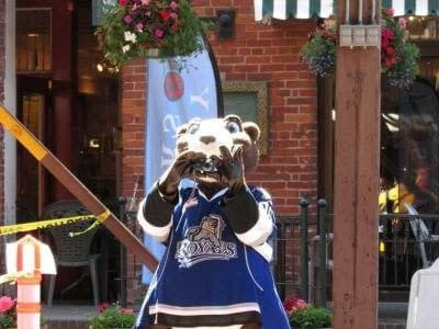 Marty the Marmot the mascot for the Royals loves Segways! Sadly his feet are too big so he can only watch and take pictures
