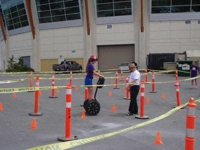 Learning to ride a Segway for the first time at UrbaCity Challenge Victoria 2012