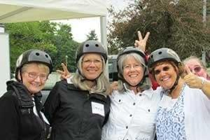 Big group Segway smile with Ride the Glide