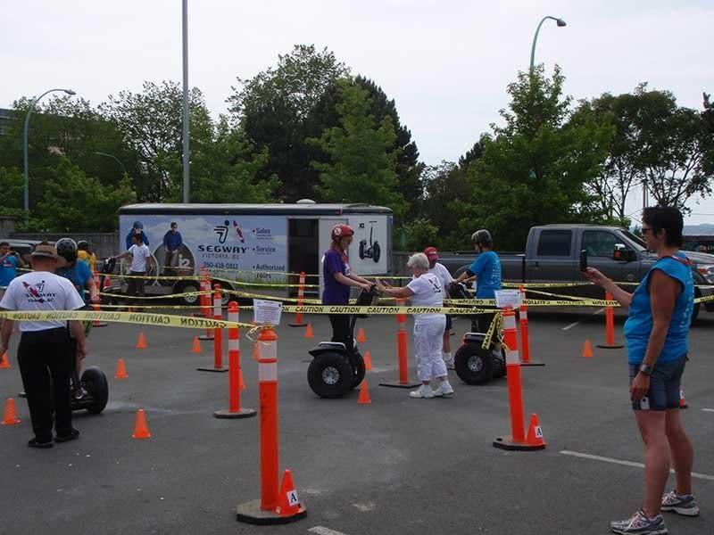 Having a great time riding a Segway at UrbaCity Victoria 2012