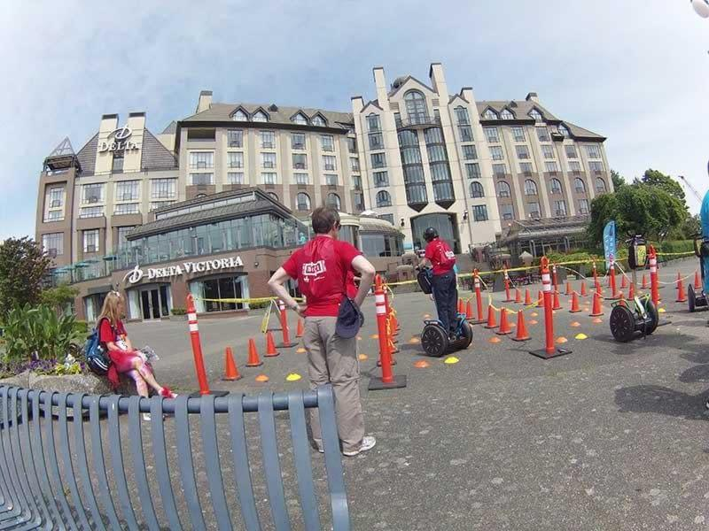 Beatiful weather at Delta Point for a Segway challenge UrbaCity Victoria 2014