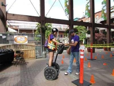 Learning to ride a segway in Market Square for UrbaCity Challenge Victoria 2013