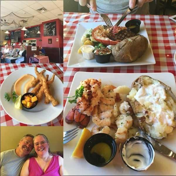 Delicious dinner at Ailoi Seafood Restaurant in Parksville