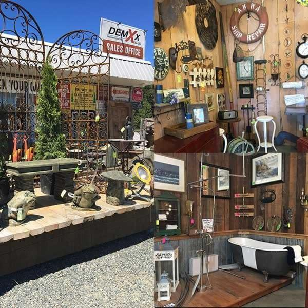 Lots of cool antiques and reclaimed pieces at the DemXx in Parksville