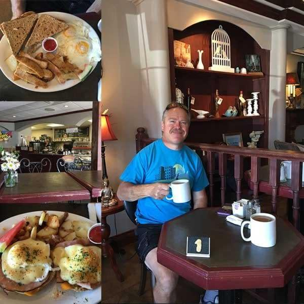 Breakfast at the Pacific Brimm Cafe in Parksville