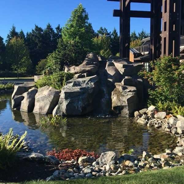 Waterfall at Sunrise Ridge Waterfront Resort in Parksville