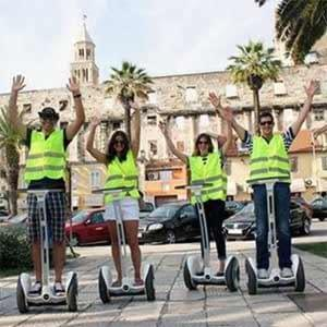the Ninebot Elite personal transporter is excellent for taking people out on tours, easy to learn and very safe
