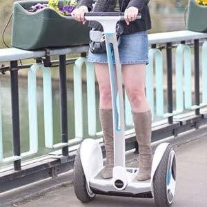 Perfect for commuting, the Ninebot Elite can go as slow as a crawl, as fast as a sprint and has a very small footprint for in city commuting