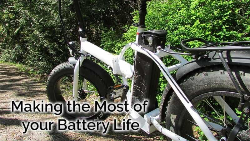 Make the Most of your Battery Life - learn how to get the most out of your e-bike's battery