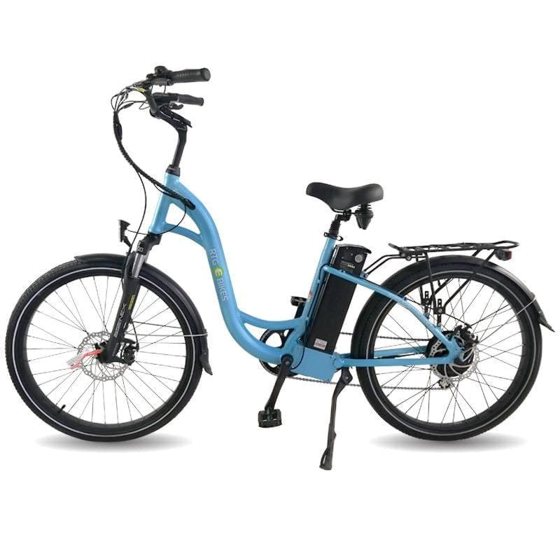 Regal Step through e-bike perfect for city commutes, 2019 robin eggshell blue by Ride the Glide Victoria BC