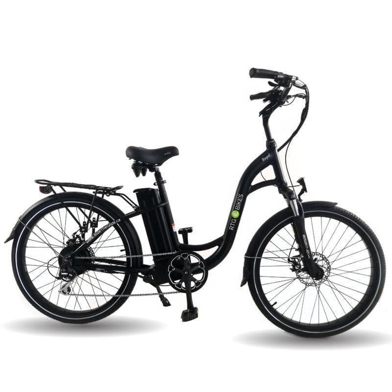 Ride the Glide Regal step through commuter e-bike in black