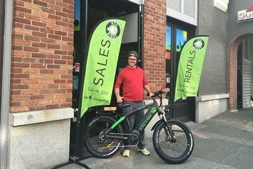 Happy new owner of a Ride the Glide electric bike