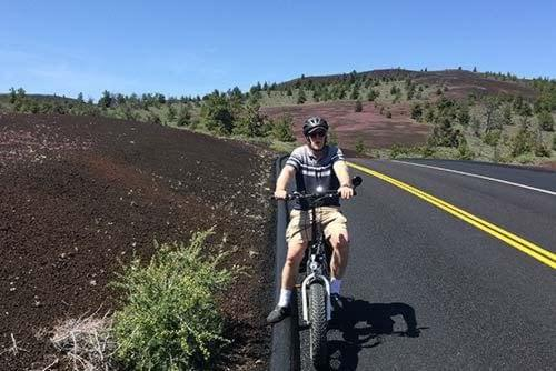 Happy customer riding in Craters of the Moon