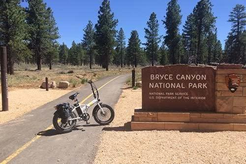 Happy customer riding in Bryce Canyon National Park