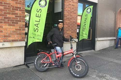 Happy customer at Ride the Glide