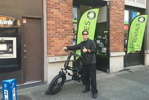 Happy customer with his new e-bike