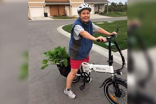 Happy e-bike customer