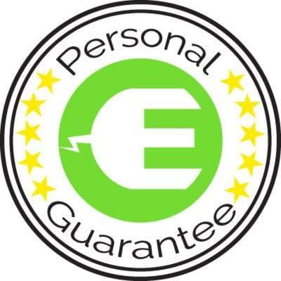 Our personal guarantee that your product has been inspected and tested before being sent out to you.