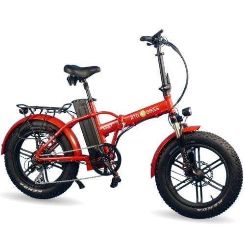 RTG 500XT folding electric fat bike, new 2019 model in red, Ride the Glide