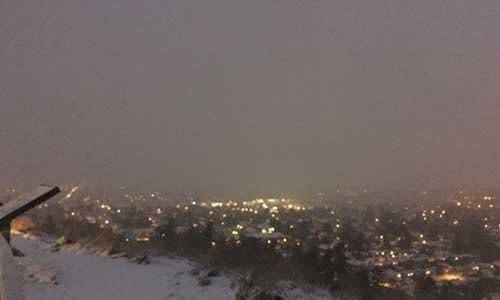 Had to drive up Mount Tolmie and see the city all covered in snow