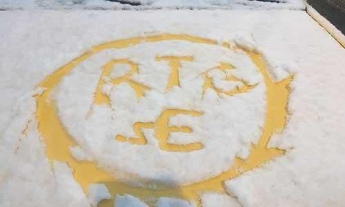 Couldn't resist some snow art!