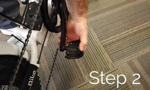 RTG 500 XT How to Fold Step 2 - fold in pedals
