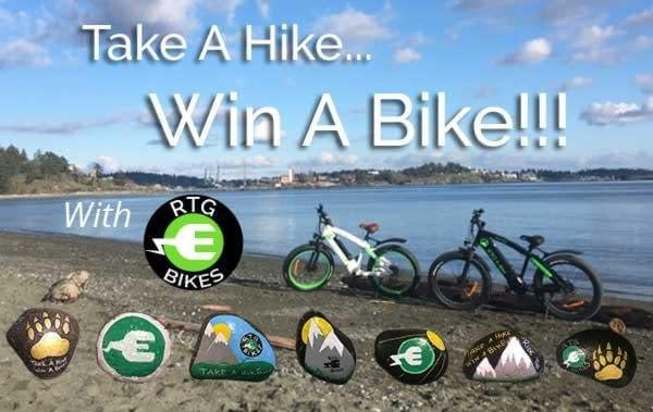 Take A Hike Win A Bike with Ride the Glide. Rock hunting contest to win an electric bike!