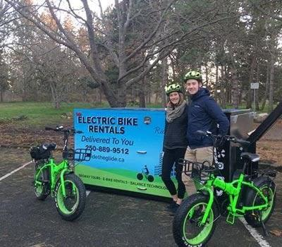 Electric bike delivery in Beacon Hill Park Victoria with Ride the Glide