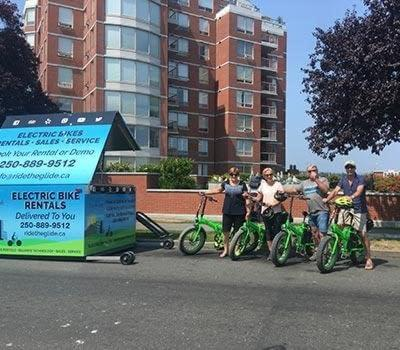 Electric bike rentals delivered to Laurel Point Inn Victoria BC by Ride the Glide