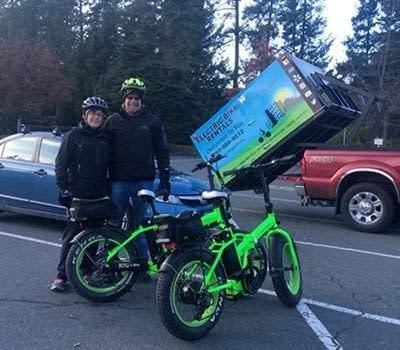 Electric bike rental delivered to the Lochside Trail by Ride the Glide