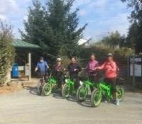 Electric bike delivery out to the Sooke Hills Wilderness trail