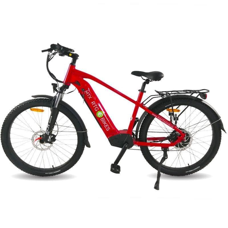 MTX x-road e-bike, hub motor 500W motor, gloss red