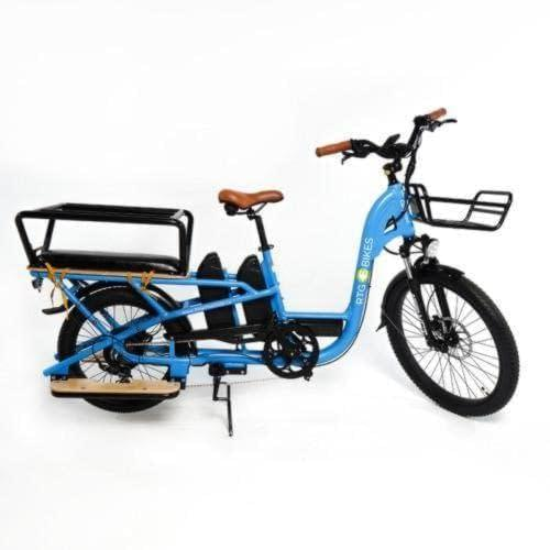 2020 Cargoroo electric cargo bike, dual battery all inclusive by Ride the Glide, low step through frame