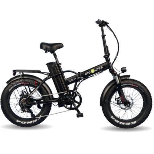 Ride the Glide 500 XXT folding bike in black