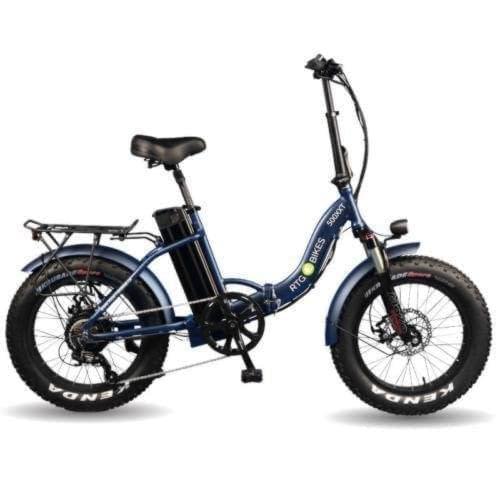 Ride the Glide 500 XXT Step through folding bike in dark blue