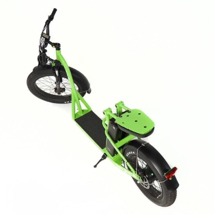 Super Glide dual battery fat electric stand-on bike by Ride the Glide