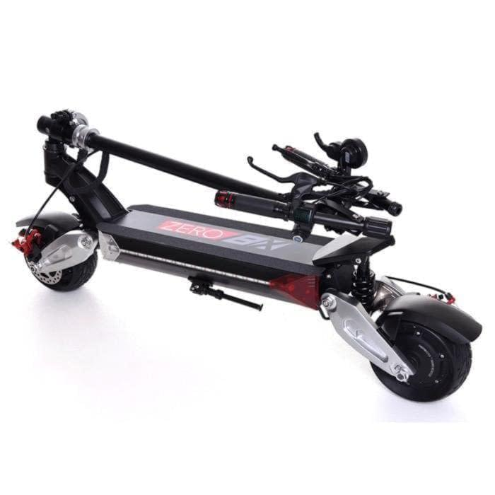 Zero 8X (Z8X) compact dual motor electric scooter folded, Ride the Glide Canada