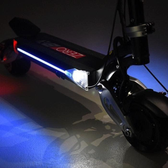 Zero 8X dual motor electric scooter, in deck lighting. Ride the Glide Canada