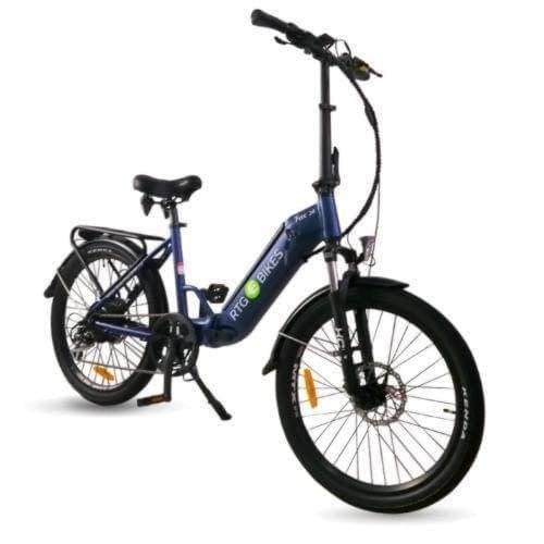 Ride The Glide Fox 24 folding electric bike in dark blue
