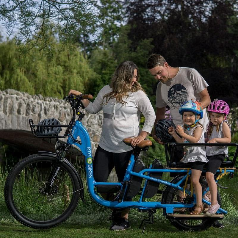 RTG Cargoroo electric cargo bike fully loaded family bike